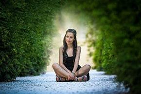 Photo woman Prague